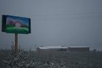 Nieve en el Centro Amma en Piera