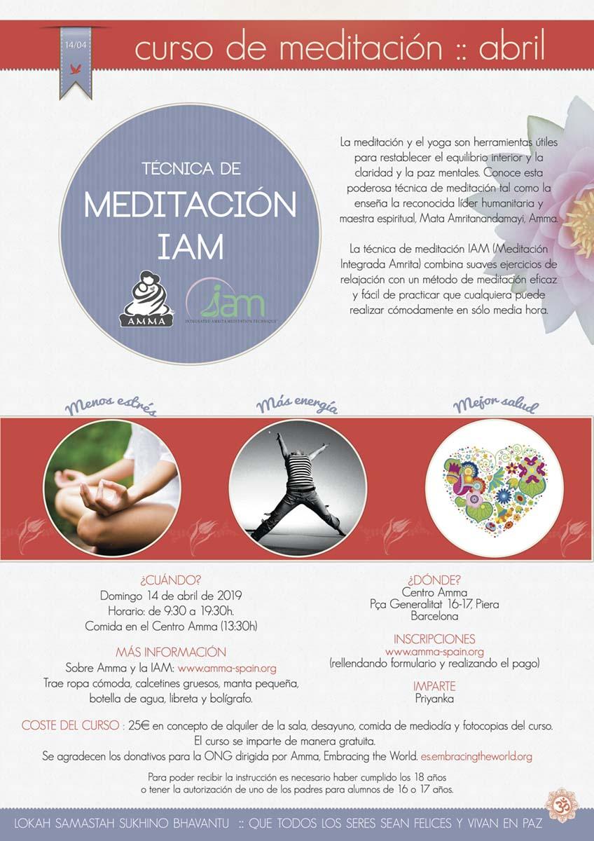 CURSO MEDITACIÓN IAM PIERA (BARCELONA)