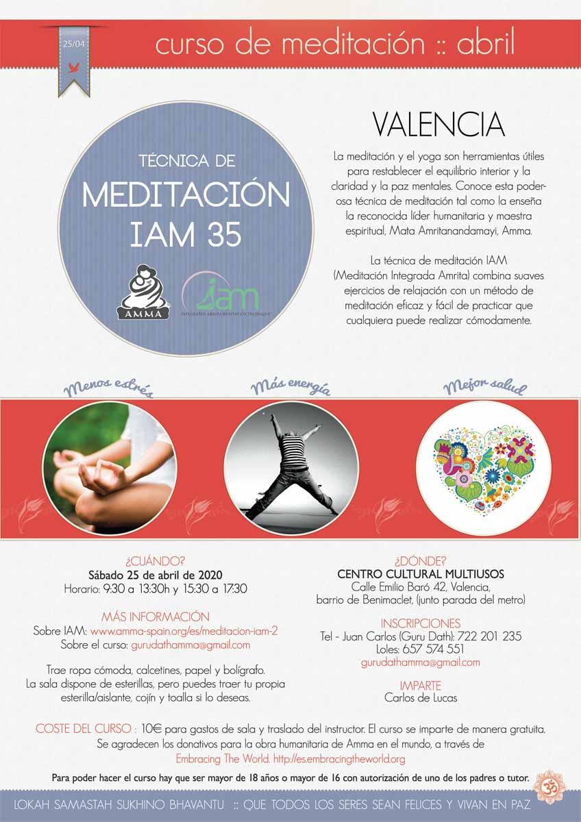 CURSO DE MEDITACION IAM VALENCIA