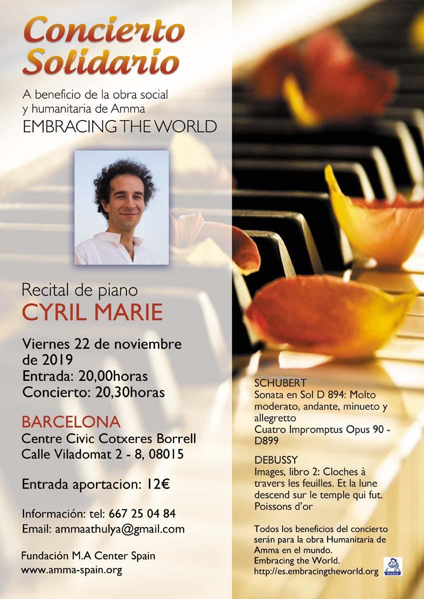 CONCIERTO DE PIANO DE MURALI BARCELONA