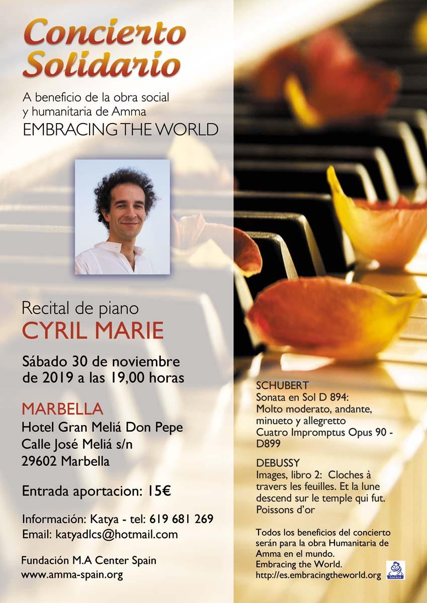 CONCIERTO DE PIANO DE MURALI  MARBELLA