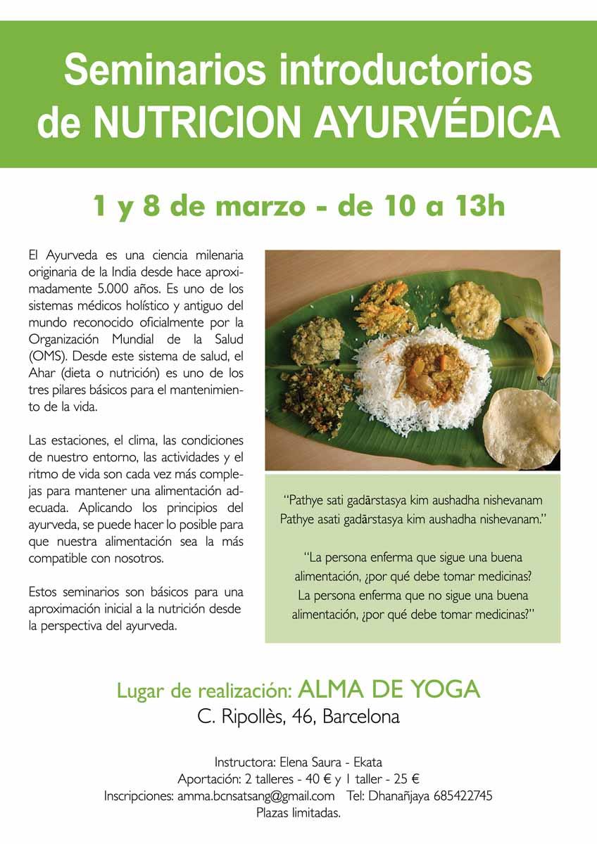 NUTRICION AYURVEDICA BARCELONA