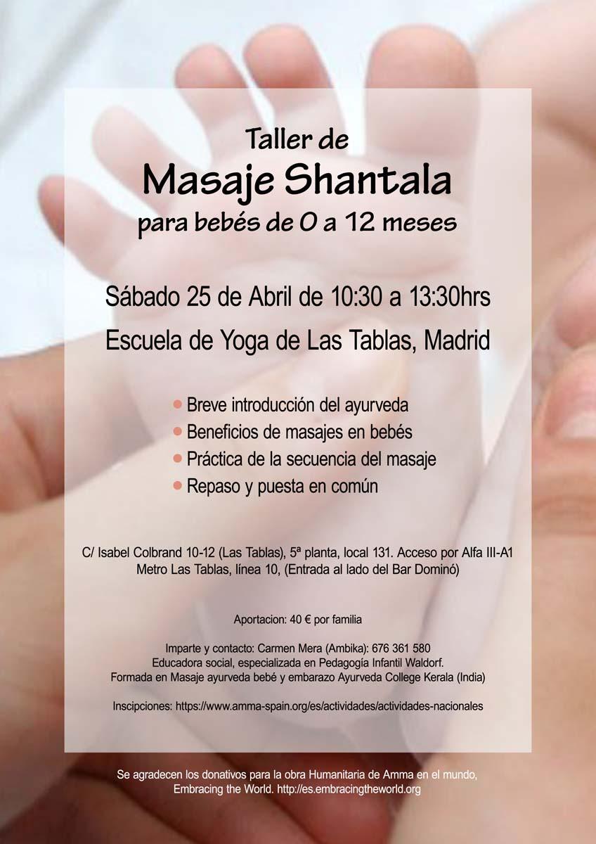 TALLER DE MASAJE SHANTALA PARA BEBÉS MADRID